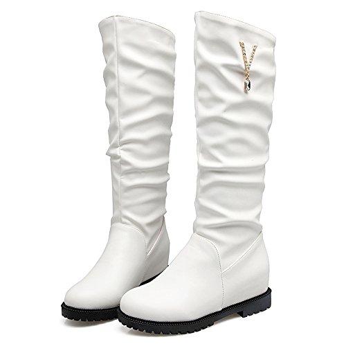 Augmentation White RAZAMAZA 2 Enfiler Bottes Femmes a 4qvvw5g