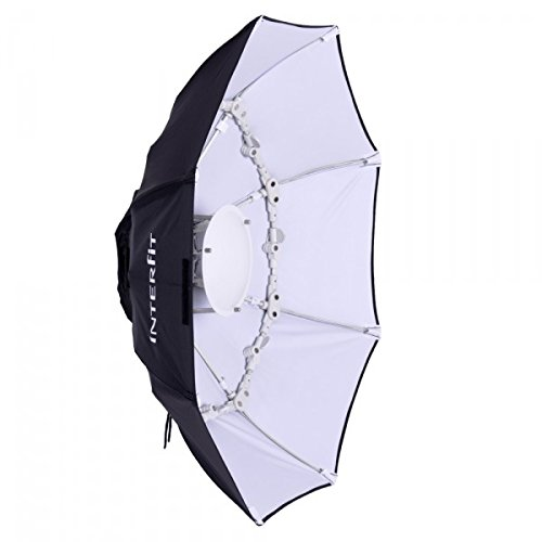 Interfit Photographic INT783 40″ White Foldable Beauty Dish, S-Type Fitting (Black/White) 41uF6jx6 hL