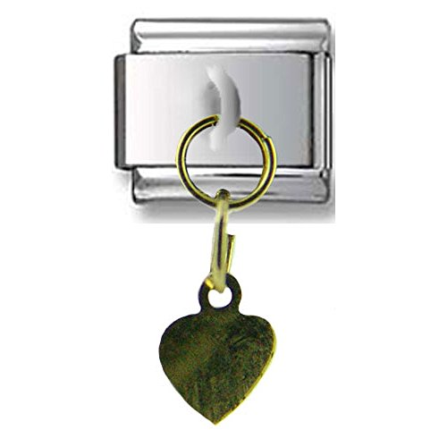 Dangle Gold Heart Italian ()