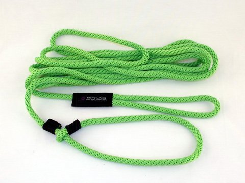 Soft Lines PSW20820LIMEGREEN Floating Dog Swim Slip Leashes 0.5 in. Diameter by 20 Ft. - Lime Green by Soft Lines (Image #1)