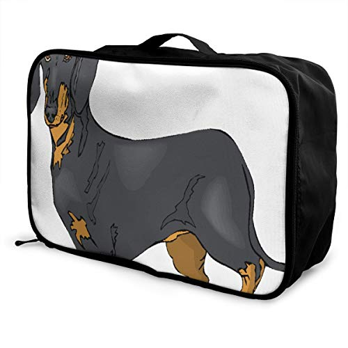 (Travel Bags Dachshund Portable Tote Fabulous Trolley Handle Luggage Bag)
