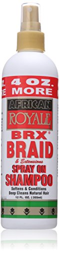 African Royale Brx Braid Spray On Shampoo, 12 Oz