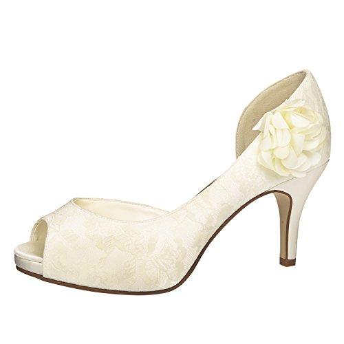 Elsa Coloured Shoes, Scarpe col tacco donna Avorio