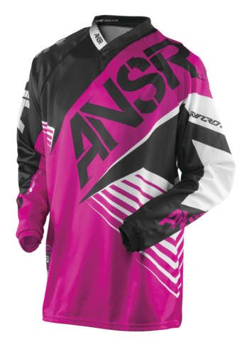 Answer A16 Syncron WMX Youth Jersey, Distinct Name: Pink/Black, Gender: Girls, Primary Color: Pink, Size: Lg, Size Segment: Youth, 461769