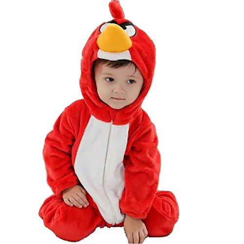 GoldBucket Unisex Baby Romper Bodysuit Jumpsuit Costume (110 24-30 Months, Angry Bird)