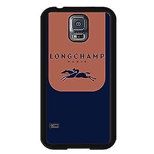 Cool Longchamp Paris Logo Phone Case Cover MK27 for Samsung Galaxy S5 Black Hard Case_Blue