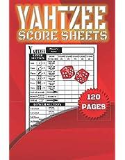 Yahtzee Score Sheets: 120 Ideal Score Pads for ScoreKeeping; Yahtzee Score Cards with Size 6 x 9 inches; The Yahtzee Score Books
