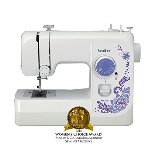 Brother Sewing Machine, XM1010, 10-Stitch Sewing Machine, Portable Sewing Machine, 10 Built-in Stitches, 4 Included Sewing Feet, 25-Year Limited Warranty