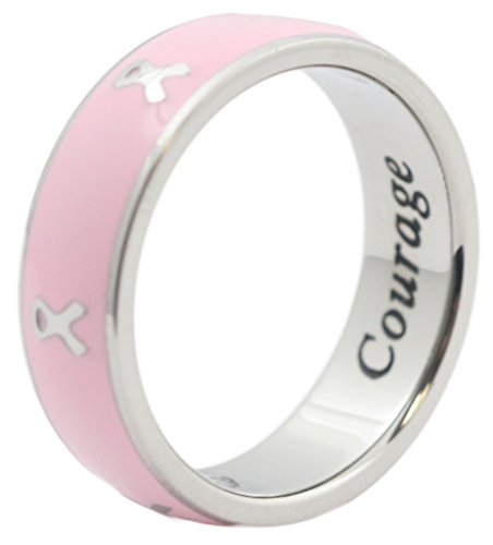 Breast Cancer Awareness Ring Cancer Ribbon Pink Ring Cancer Survivor Gifts