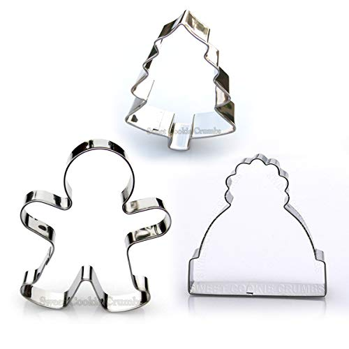 Christmas Cookie Cutter Set, 3 Piece, Stainless Steel ()