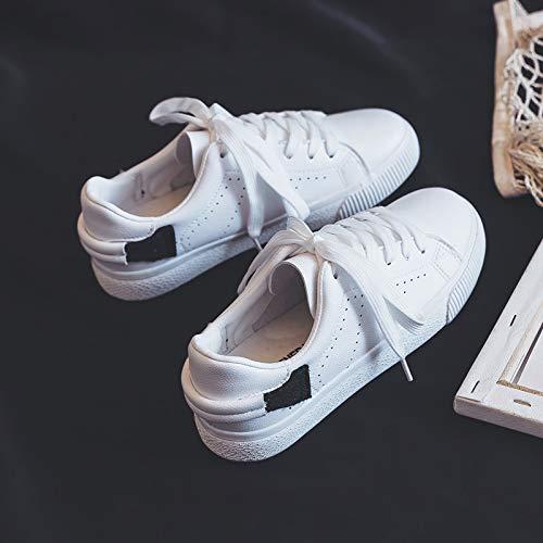 YUNDONGXIENV Leichtathletikschuhe Wild Breathable Weiß Weiß Weiß schuhe Weibliche 2019 Frühjahr Studenten Harajuku Port Wind Net Rote Schuhe 6f57a2
