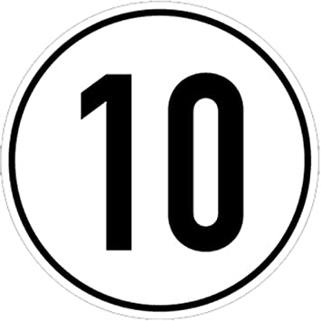 Aufkleber Geschwindigkeitsschild 10 Km H Folie Selbstklebend 20cm Ø Kraftfahrzeugschild Kilometerschild Höchstgeschwindigkeit Praxisbewährt Wetterfest Baumarkt