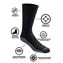 Dickies Men's Dri-tech Moisture Control Crew Socks Multipack