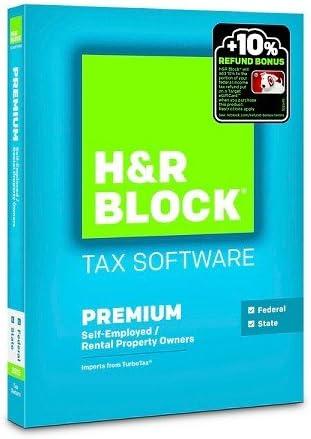 H&R Block 2015 Premium + State Tax Software – PC/Mac Disc