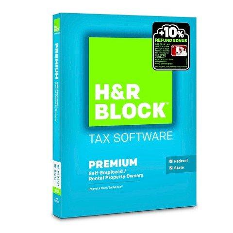 H R Block 2015 Premium   State Tax Software   Pc Mac Disc