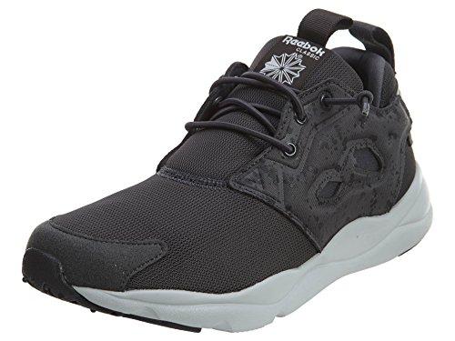 Reebok Furylite CQ Running Juniors Shoes Size Coal / Black / Steel / White