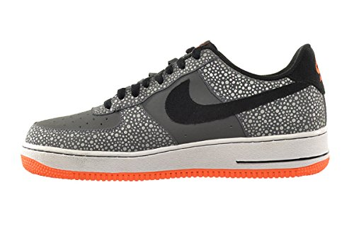Nike Air Force 1 Herenschoenen Donkergrijs / Zwart-totaal Oranje 488298-079
