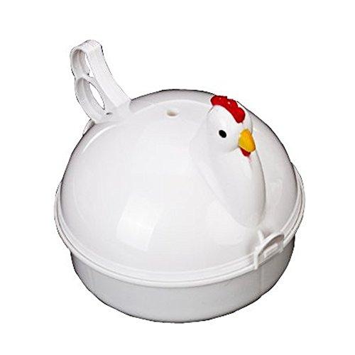 DUYI Premium Microwave Egg Boiler, Cute Hen shaped, For 4 Eg