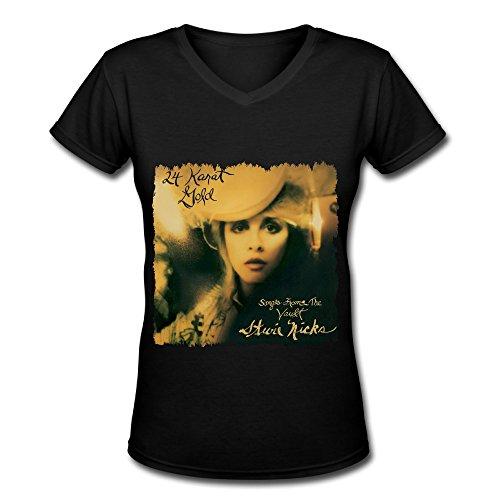 Best Black V Neck T Shirt For Women Tour 2016 Stevie Nicks 24 Karat Gold Songs From The Vault