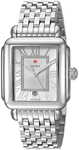 MICHELE-Womens-Deco-Madison-Swiss-Quartz-Stainless-Steel-Casual-Watch-ColorSilver-Toned-Model-MWW06T000141
