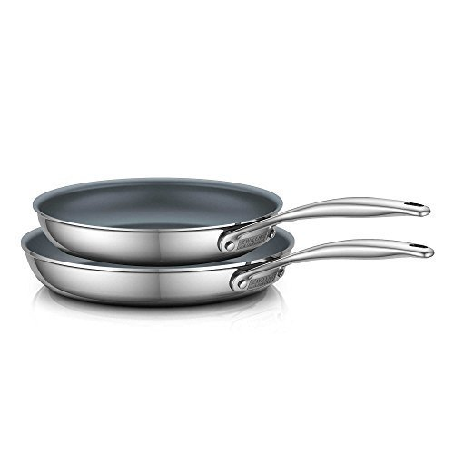 ZWILLING Energy 2-Piece Ceramic-Coated Stainless Steel Fry Pan Set
