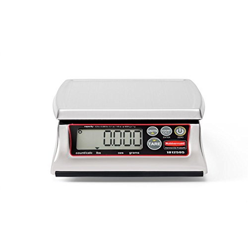 Rubbermaid Commercial Products 1812595 Premium Stainless Steel Digital Scale for Foodservice Portion Control, 12 lb