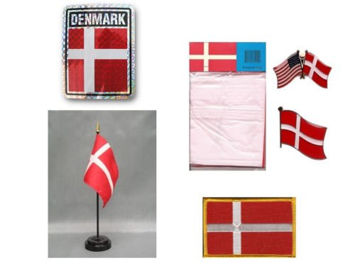Moon Denmark Heritage Flag Set  - Bright Color UV Resistant