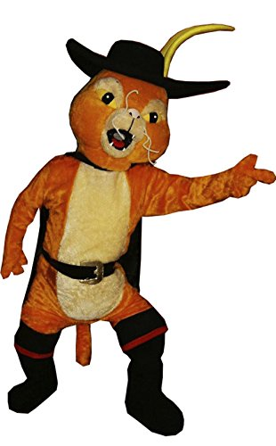 Handmade Puss in Boots Mascot Costume Adult Costume ()