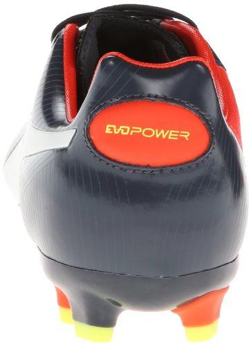 PUMA Zapatillas de f¨²tbol para suelo firme Evopower 3 para hombre, Ombre azul / blanco / melocot¨®n fluorescente, 10 M de EE. UU.
