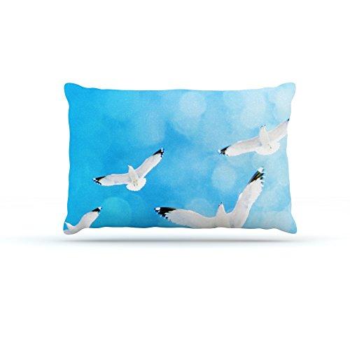 Kess InHouse Robin Dickinson Fly Free  Fleece Dog Bed, 50 by 60 , Birds Sky