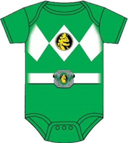 Power Rangers Green Ranger Infant Baby Romper Snapsuit Costume (6-12 Months) Color: Green Size: 6-12 Months (Power Rangers Green Ranger Costume)