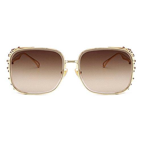 ojo personalidad de las de elegante Gafas cristalino marco de para ULTRAVIOLETA de sol verano agraciado moda la playa Tonos para protección vacaciones de las de Proteccion conducción mujeres de C2 del la TqAwE7