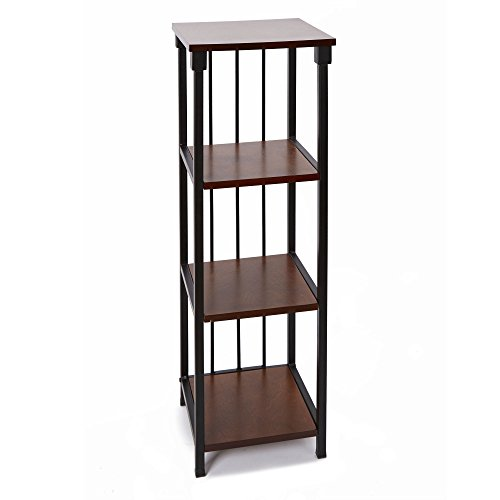 Silverwood Mixed Material Bathroom Collection 4-Tier Floor Shelf 4, 35
