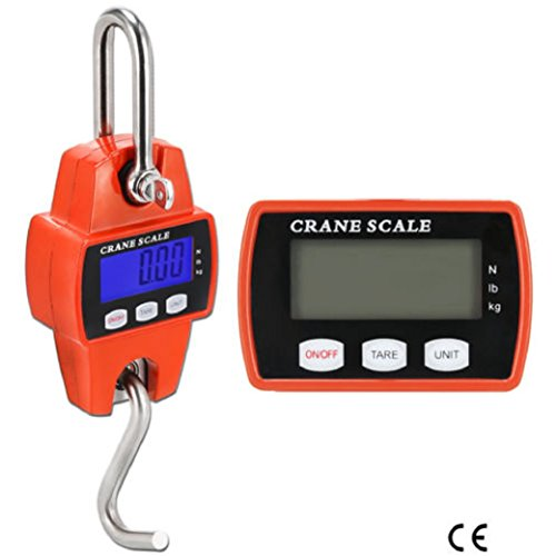 NEW Mini Crane Scale LCD Digital Display Hook Heavy Duty Hanger 300 KG 660 LBS With CE Approved 3x AA batteries (not included) by sisteryou