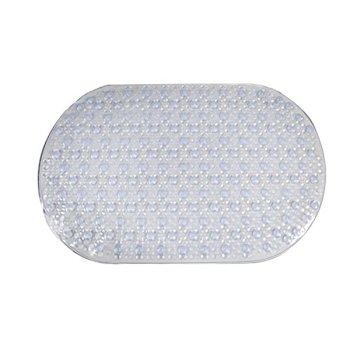 chic AquaTouch Oval Bubble Bath Mat, Clear 15' x 27'
