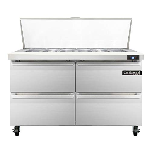 Continental Refrigerator SW48-18M-D Mighty Top Sandwich Unit, 48