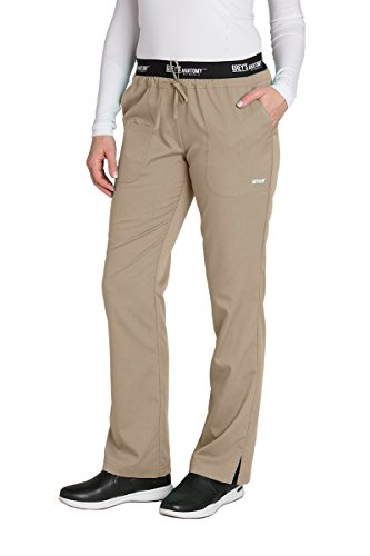 Grey's Anatomy Active 4275 Drawstring Scrub Pant New Khaki XL Petite (Drawstring Petite)