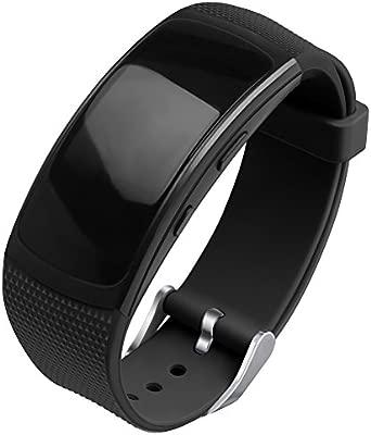 OenFoto Compatible Samsung Gear Fit2 Pro Correa, Fit 2 Pulsera Deportiva Silicona Suave Reemplazo Sport Band para Samsung Gear Fit 2 SM-R360 Smart ...
