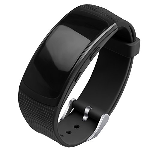 - OenFoto Compatible Gear Fit2 Pro/Fit2 Band, Replacement Silicone Accessories Strap Samsung Gear Fit2 Pro SM-R365/Gear Fit2 SM-R360 Smartwatch- Black