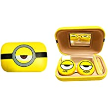 Minions Contact Lens Case | Great For Travel+Mini&Cute&Convinient (random pettern)