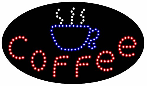 Affordable Signs LED8002 LED Sign, 'COFFEE', 15'' Height x 27'' Length x 1'' Width by Affordable Signs