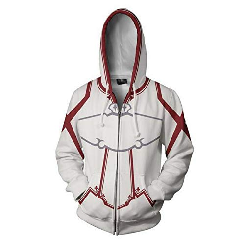 Sword Anime God Domain 3D Print Zip Cardigan Hooded Jacket COS ()