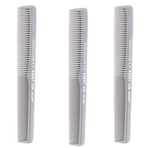 Krest Comb 7 In. Silver Edition Heat Resistant All Purpose Hair Comb Model #4