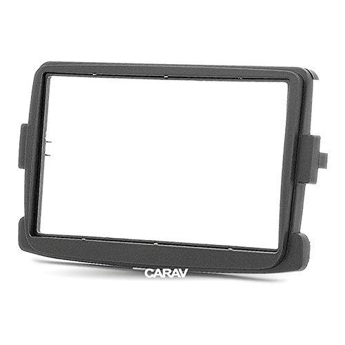CARAV 11-297 Double Din car dash installation kit Radio Stereo Facia Fascia Panel Frame DVD Player Dash Install Panel for RENAULT Duster Logan Captu Symbol Dokker Lodgy Sandero with 17398mm 178102mm