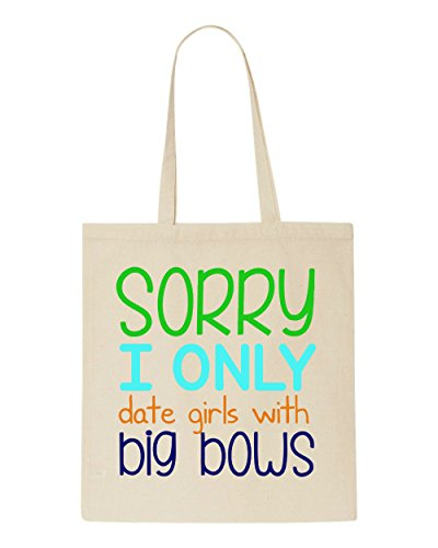 Bows Sorry Date Bag Only Shopper Girls Beige Tote With I Big SqZSwY