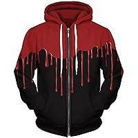 Royalove Unisex 3D Printed Long Sleeve Zip Up Sweatshirt Hoodies Blazer Jacket