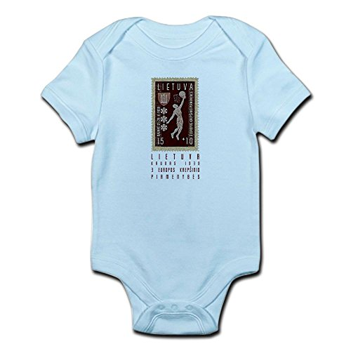 fan products of CafePress Lithuania Basketball Stamp Infant Bodysuit - Cute Infant Bodysuit Baby Romper