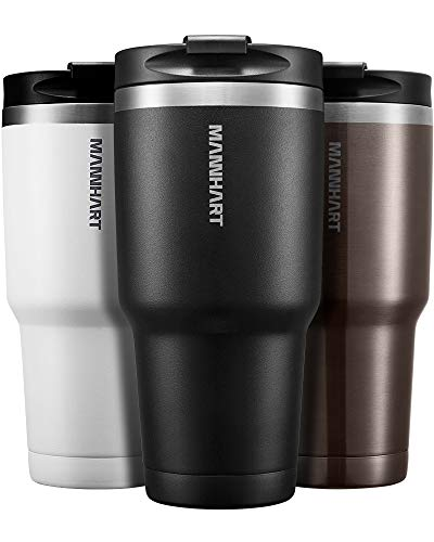 30 OZ Leak Proof Screw Lid Tumbler, Hot 6H and Cold 24H, Double Wall Vacuum Insulated Tumbler, Non Slip and Durable Coating, BPA Free, Premium Stainless Steel Travel Mug, Coffee Travel Mug, B201