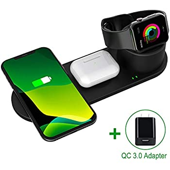 Amazon.com: Wireless Charger, 3 in 1 Wireless Charging Stand ...