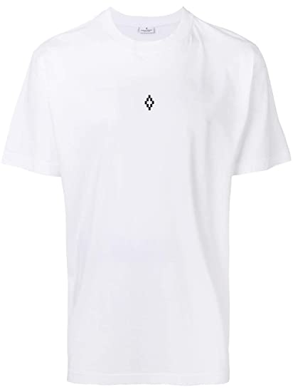 bd4d0601 MARCELO BURLON Men's CMAA018R190010340188 White Cotton T-Shirt:  Amazon.co.uk: Clothing